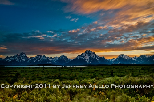 Sunset at Willow Flats, Grand Teton NP